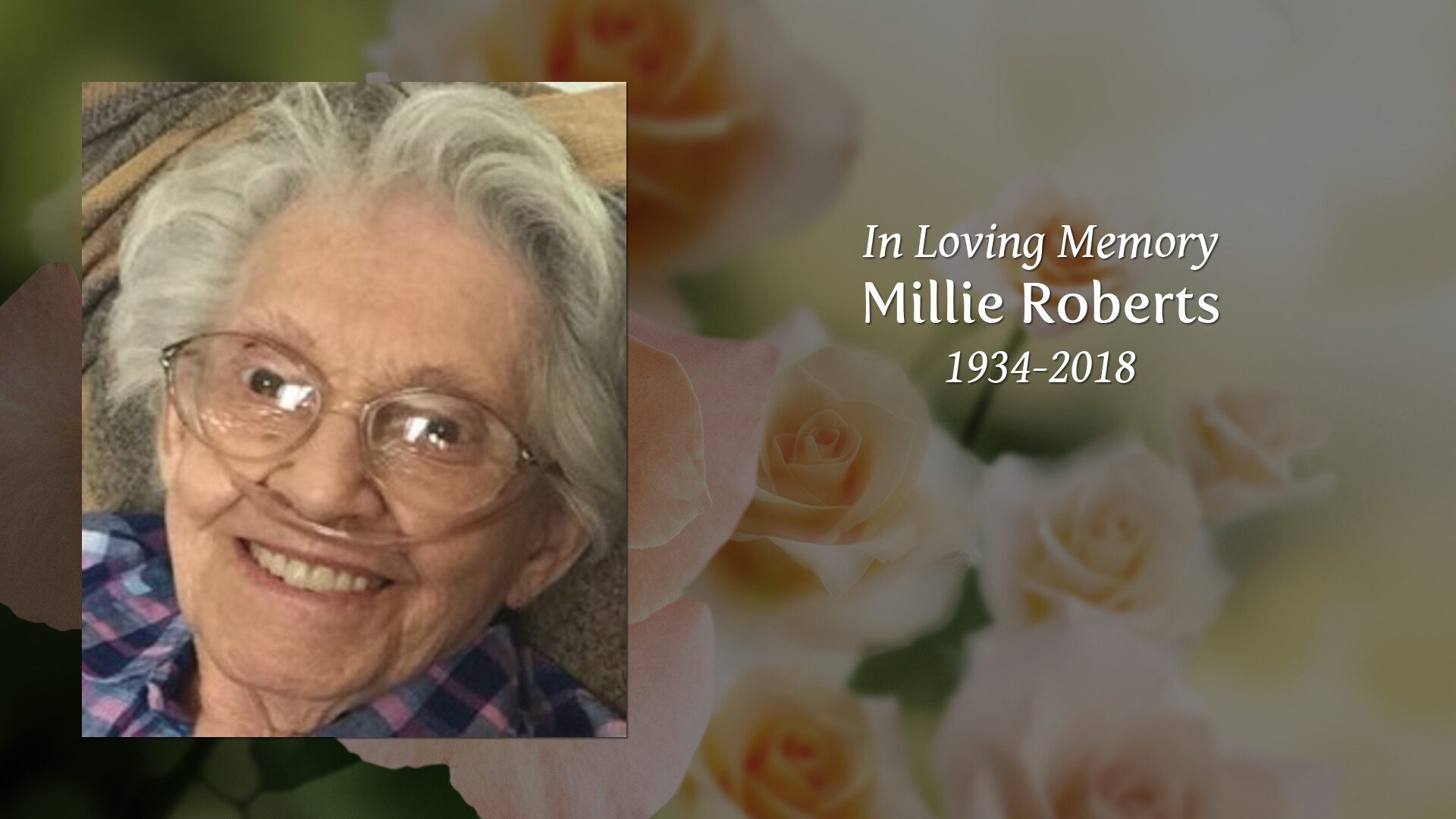 Penwell-Gabel Funeral Home - Millie Roberts 1934 - 2018