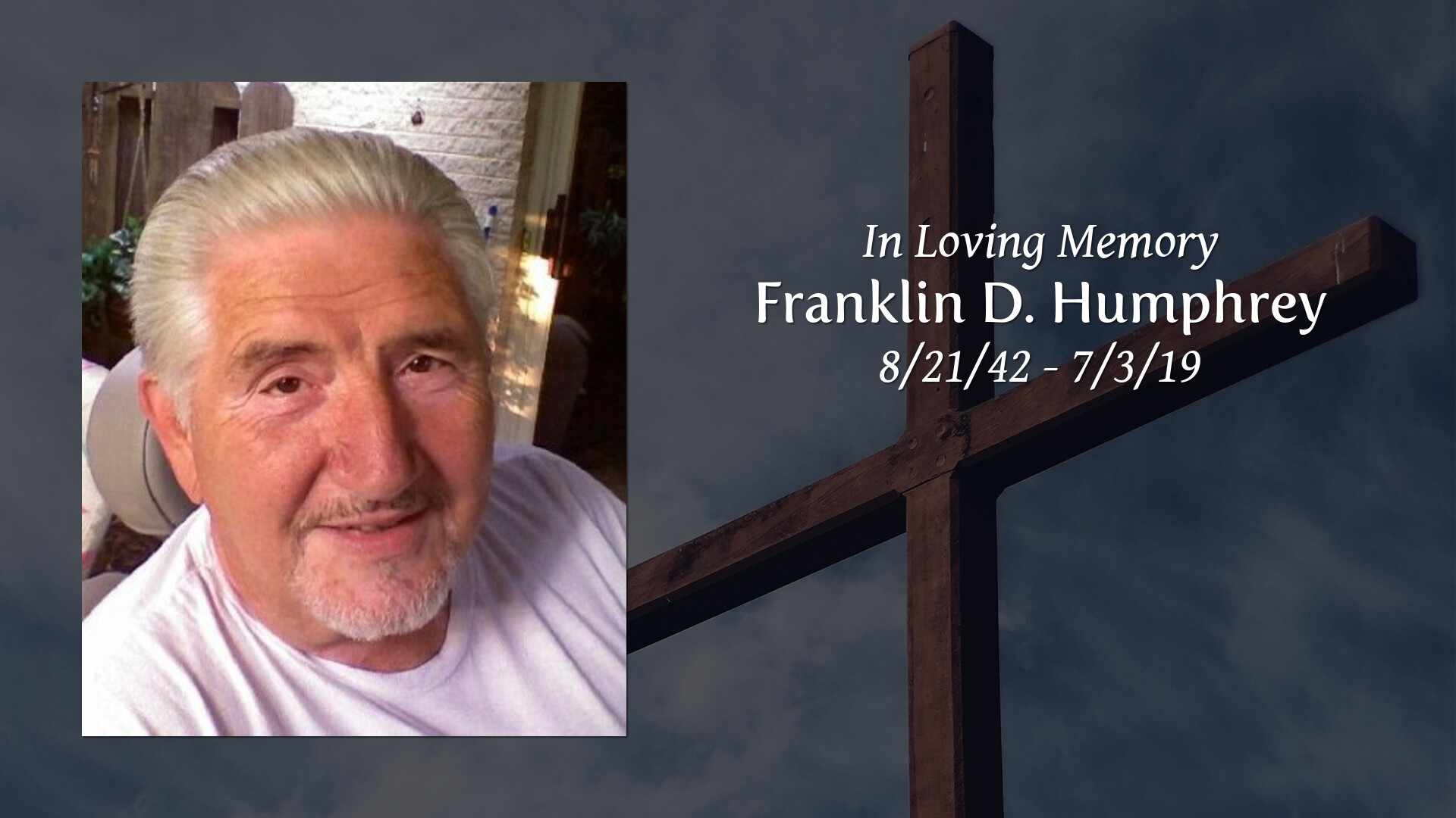 Obituary | Franklin D  Humphrey | Arnold Funeral Home