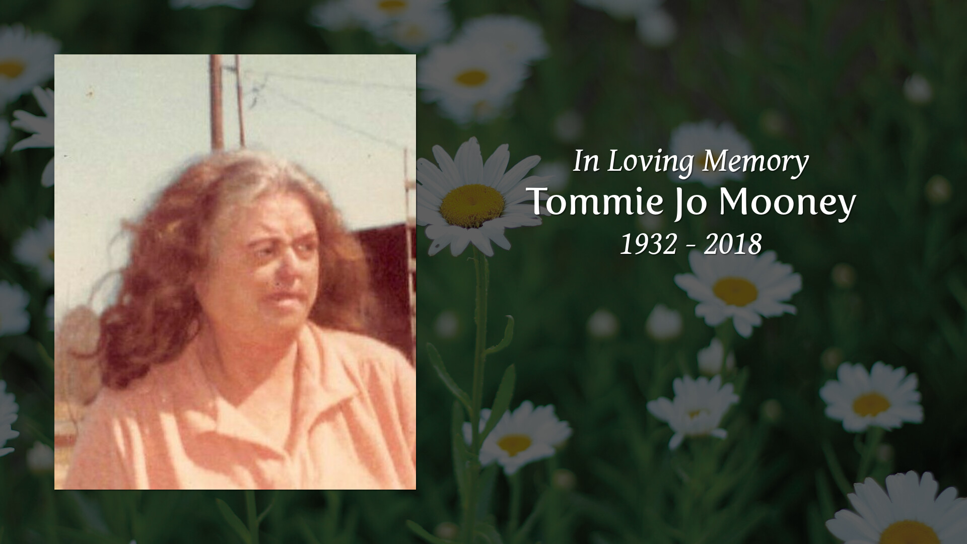 Obituary of Tommie Jo Mooney | White Funeral Home - Proudly Serving.