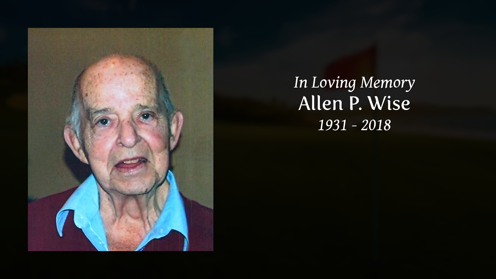 Obituary for Allen P  Wise | Clifford-Shoemaker Funeral Home
