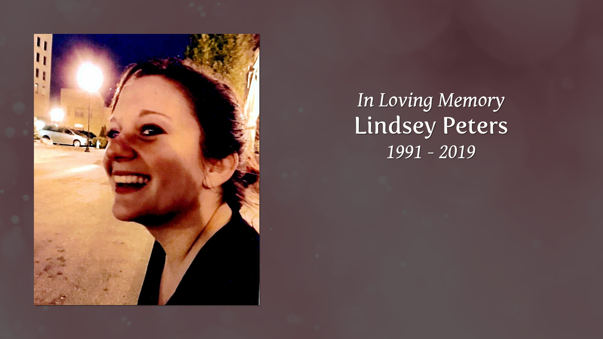 Obituary for Lindsey Peters | Hamlett-Dobson Funeral Home
