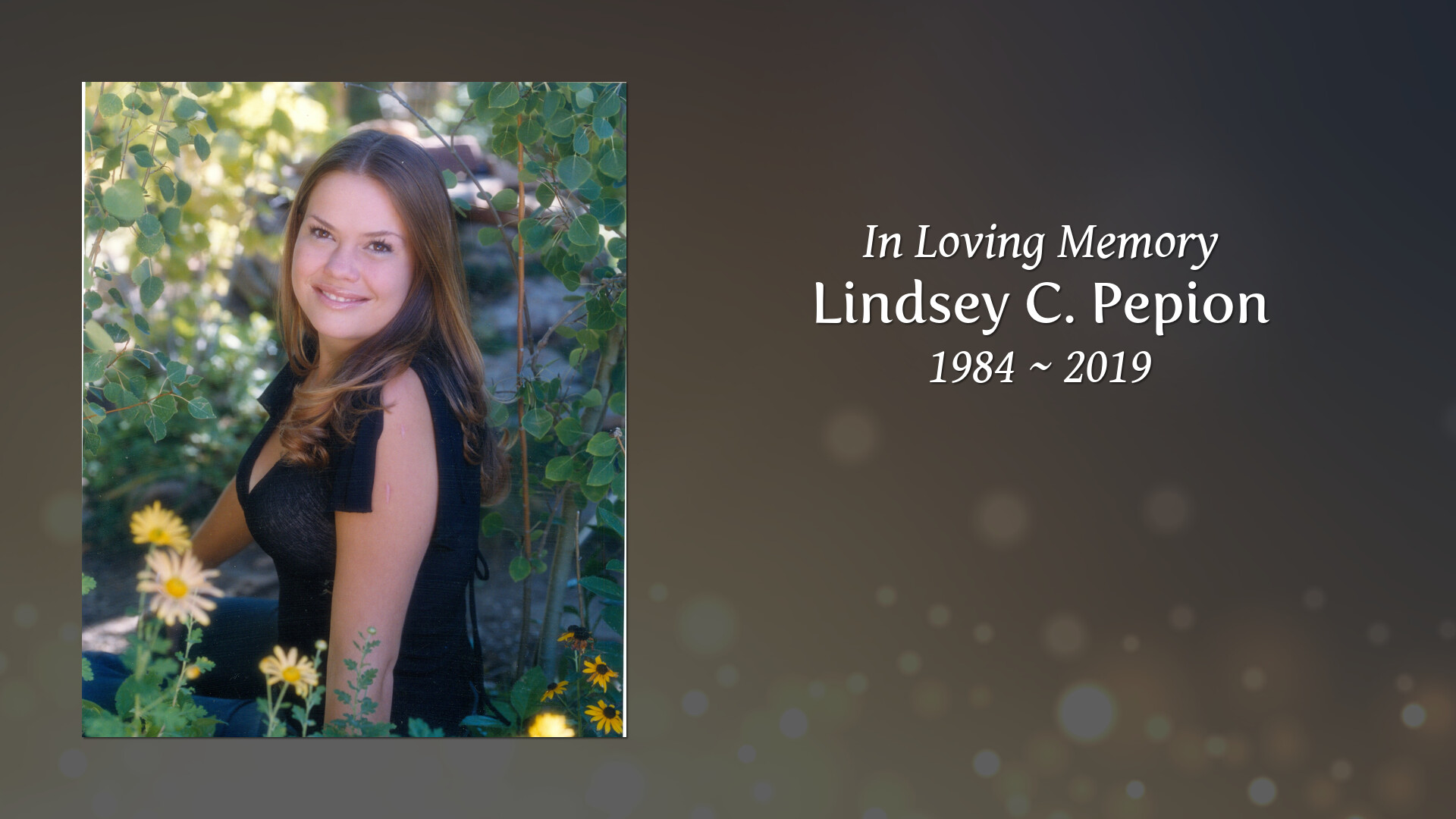 Newcomer Family Obituaries - Lindsey C  Pepion 1984 - 2019