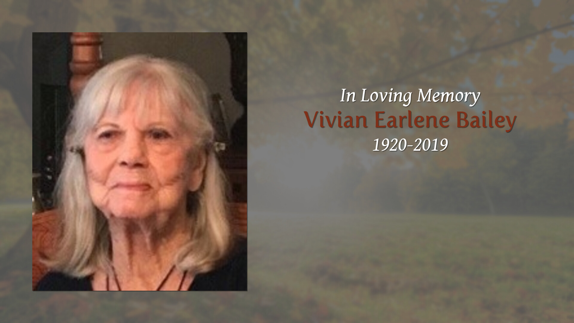 Obituary | Vivian Bailey | Forest Hill Funeral Home