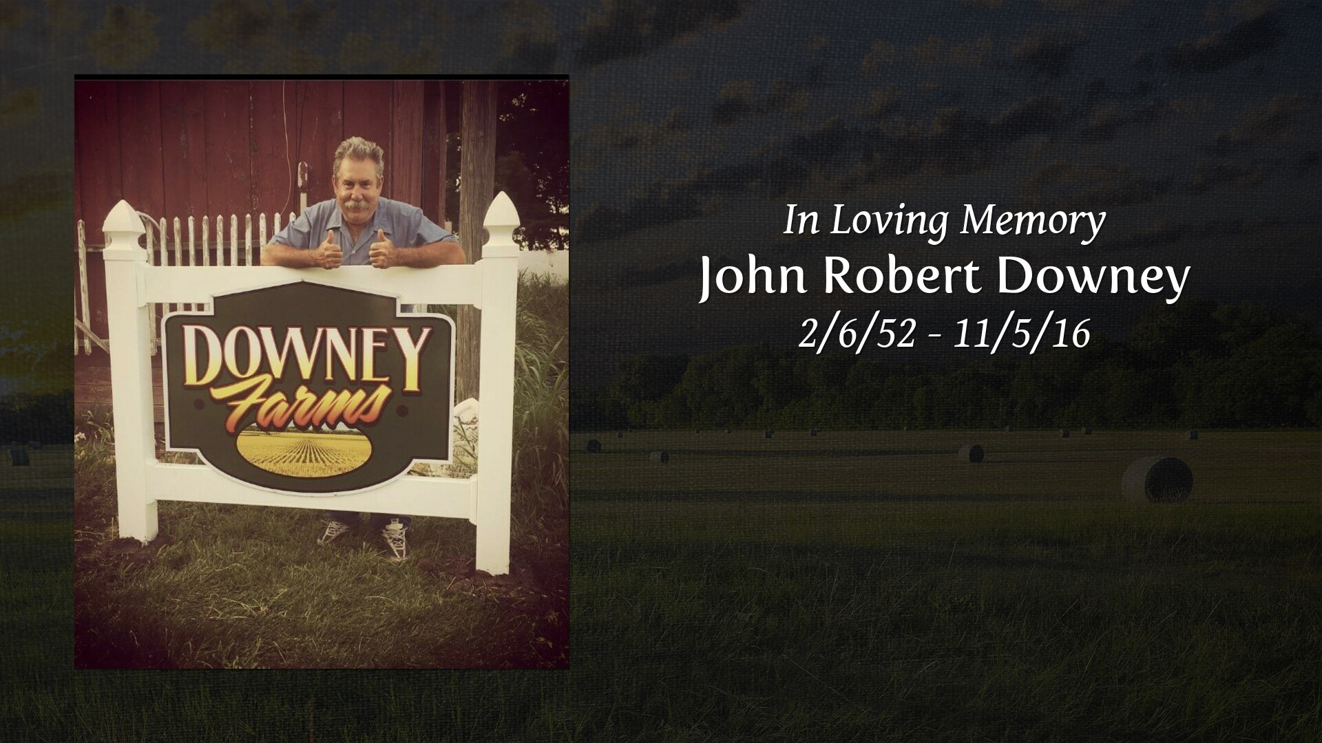 Obituary | John Robert Downey of Aledo, Illinois | Speer