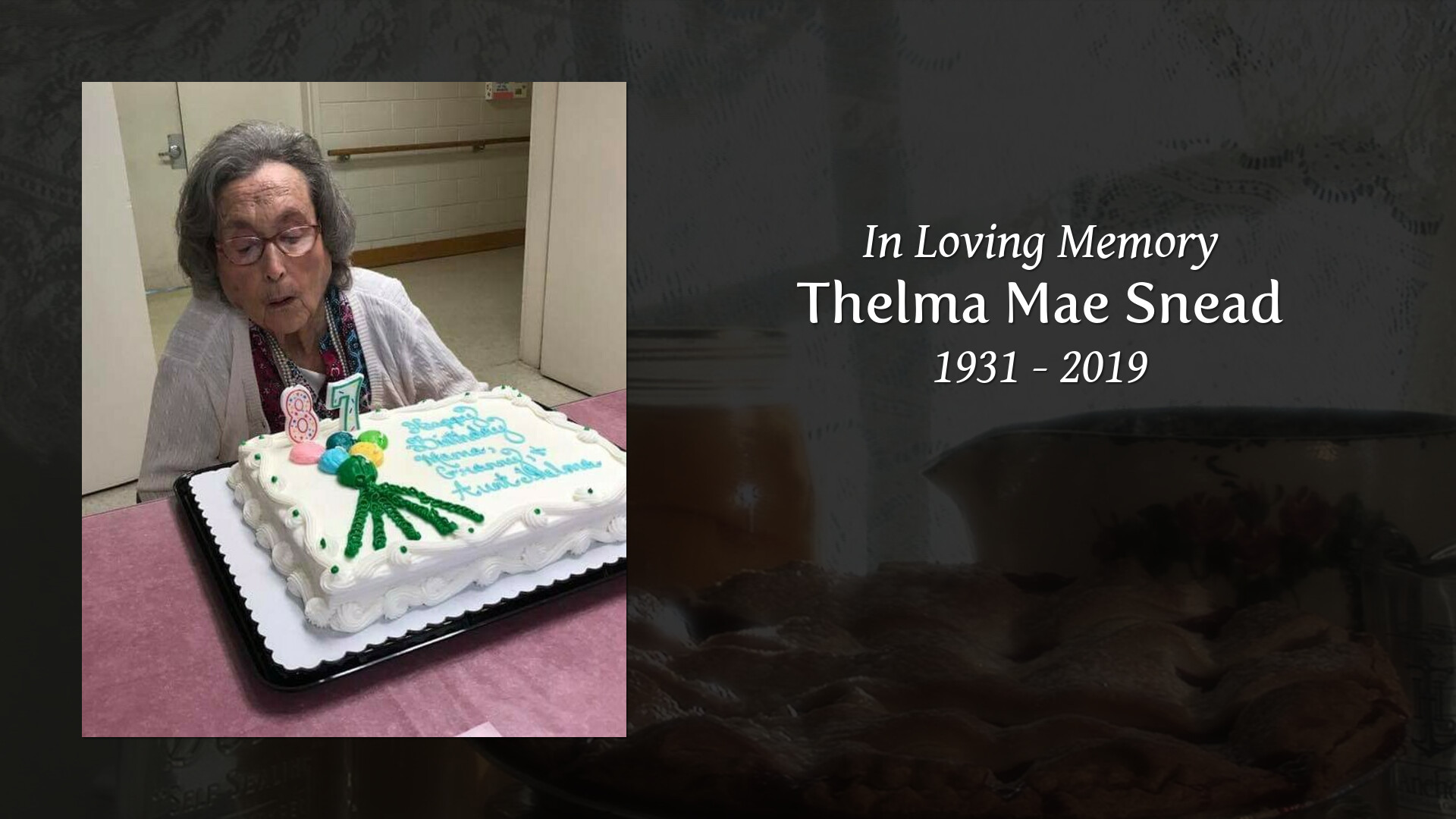Obituary for Thelma Mae (Baker) Snead   Rose & Graham