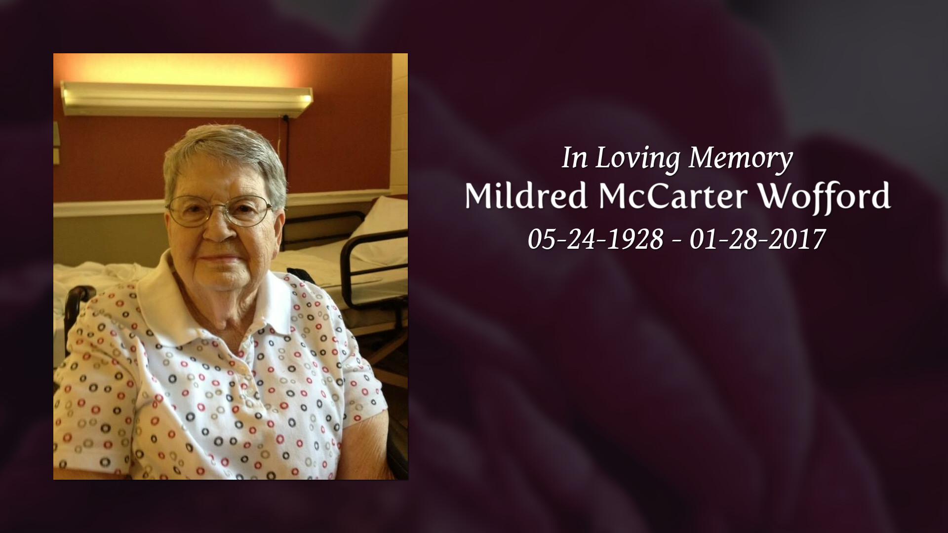 Amanda Dawkins stribling funeral home mildred mccarter wofford ( may 24