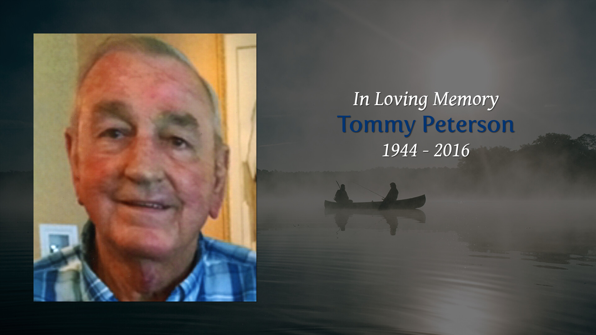 Obituary for Tommy Peterson