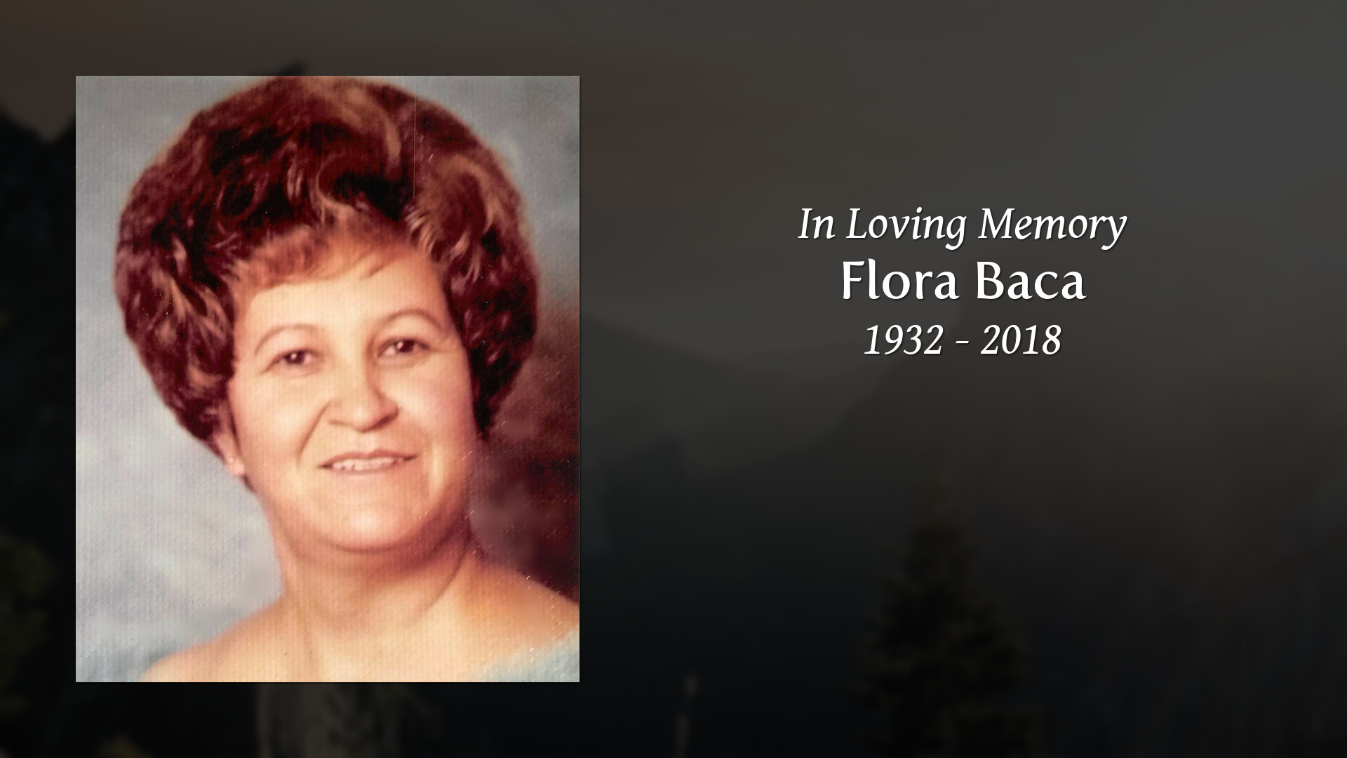 Obituary For Flora Baca French Funerals And Cremations