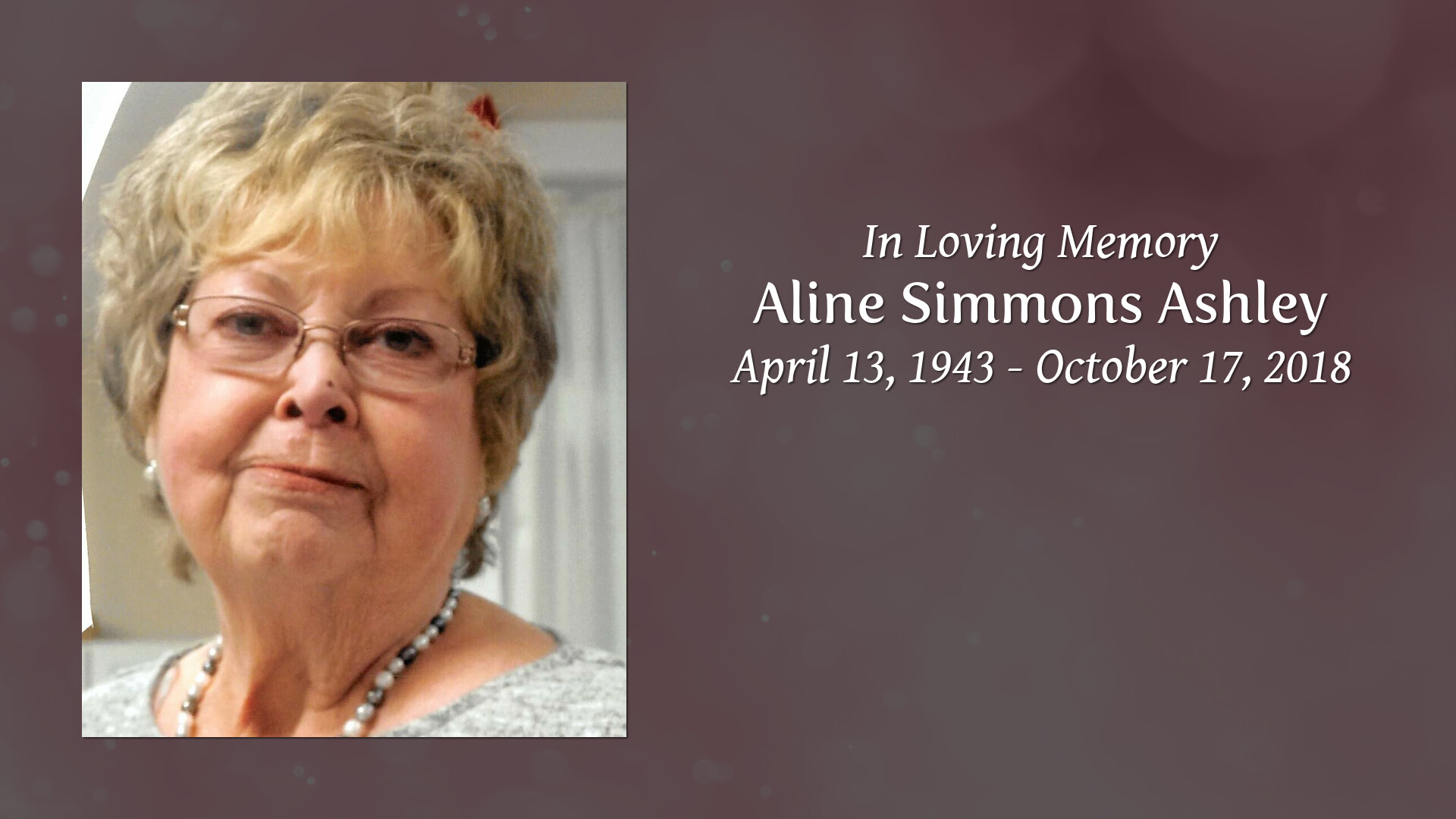Allene Simmons obituary | aline simmons ashley of sparta, tennessee | high