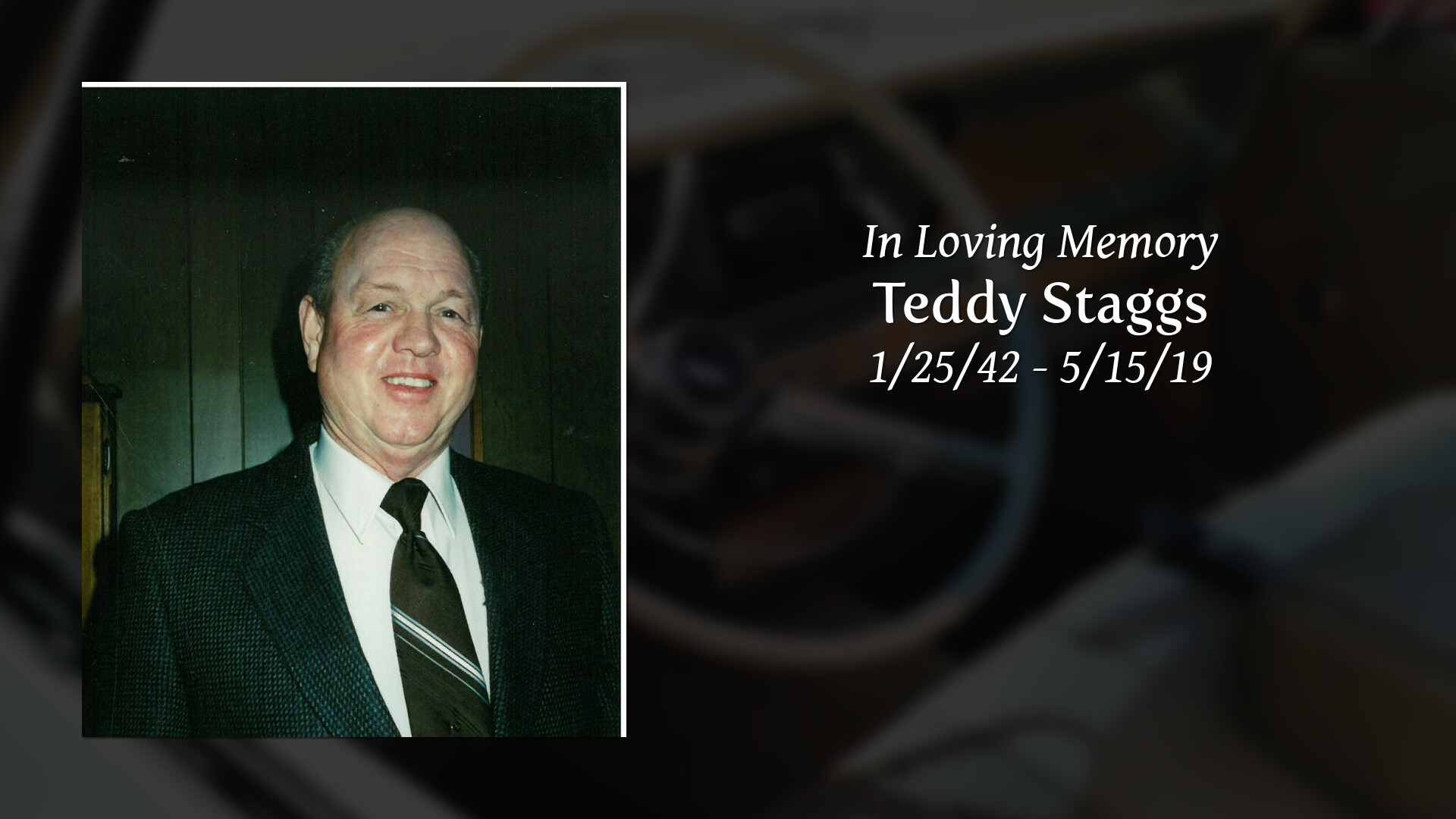 Obituary Teddy Staggs Of Paris Roden Pryor Funeral Directors