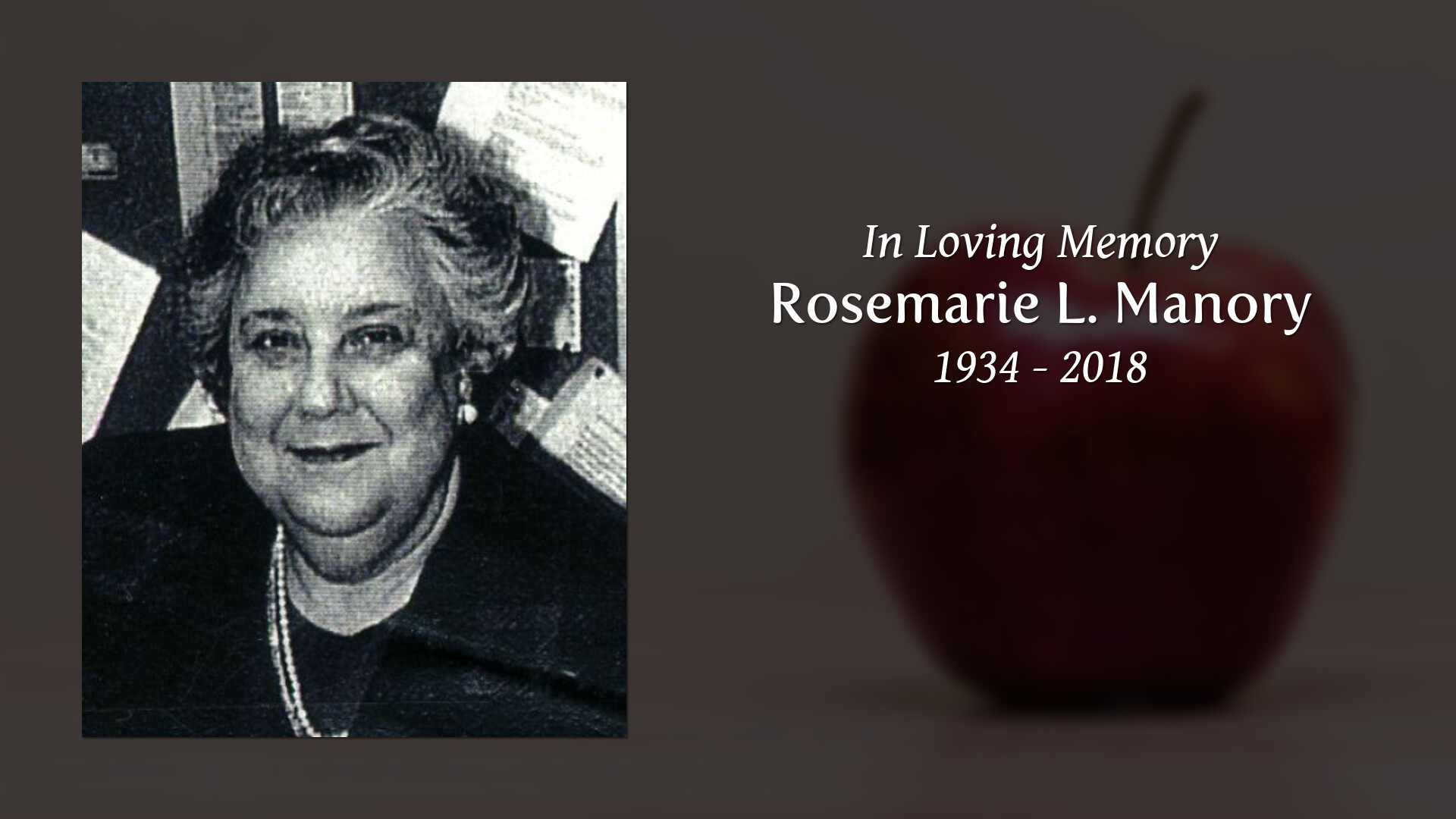 Obituary For Rosemarie L Schillaci Manory Bryce Funeral Home