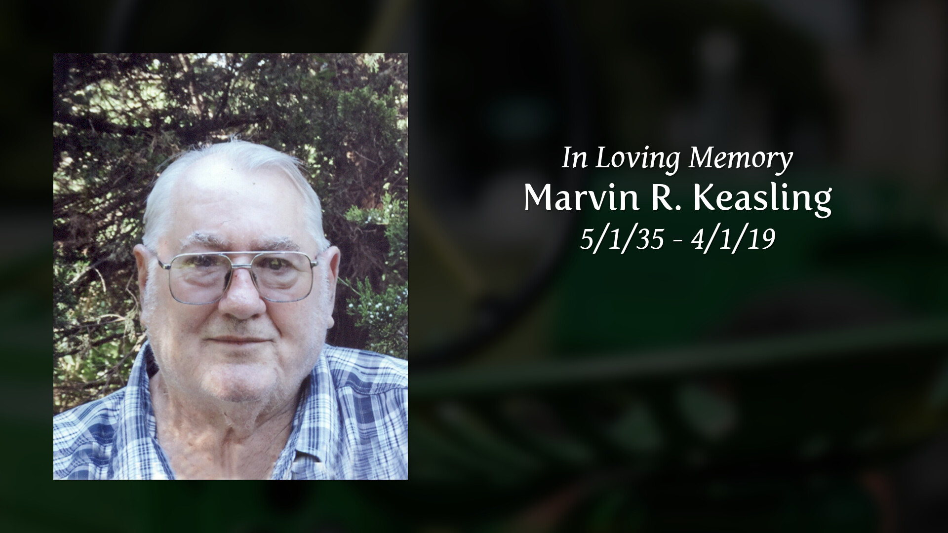 Obituary | Marvin R  Keasling | Miles Funeral Service