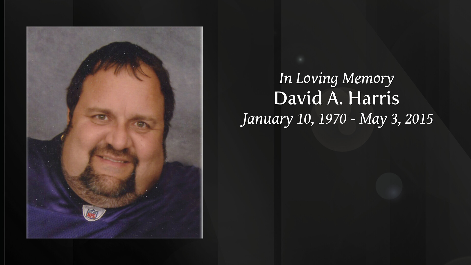 Obituary | David Allen Harris | Connelly Funeral Home of Dundalk