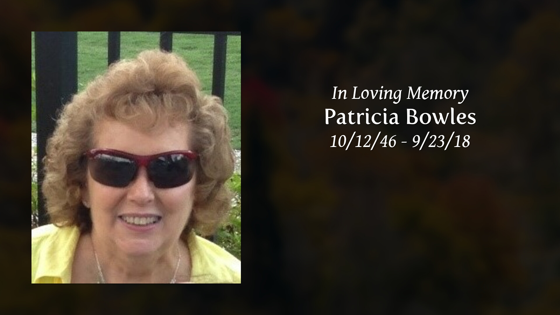 Obituary | Patricia Bowles | Cravens-Shires Funeral Home
