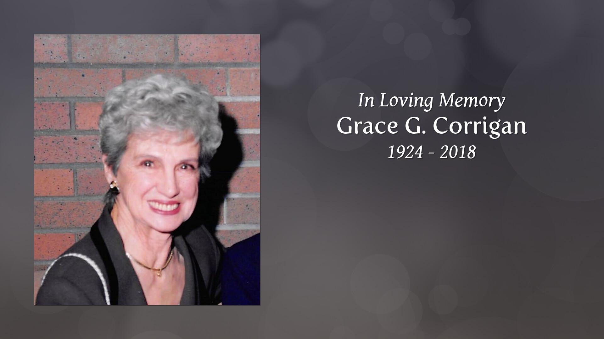 Obituary for Grace G  (George) Corrigan   McCarthy, McKinney