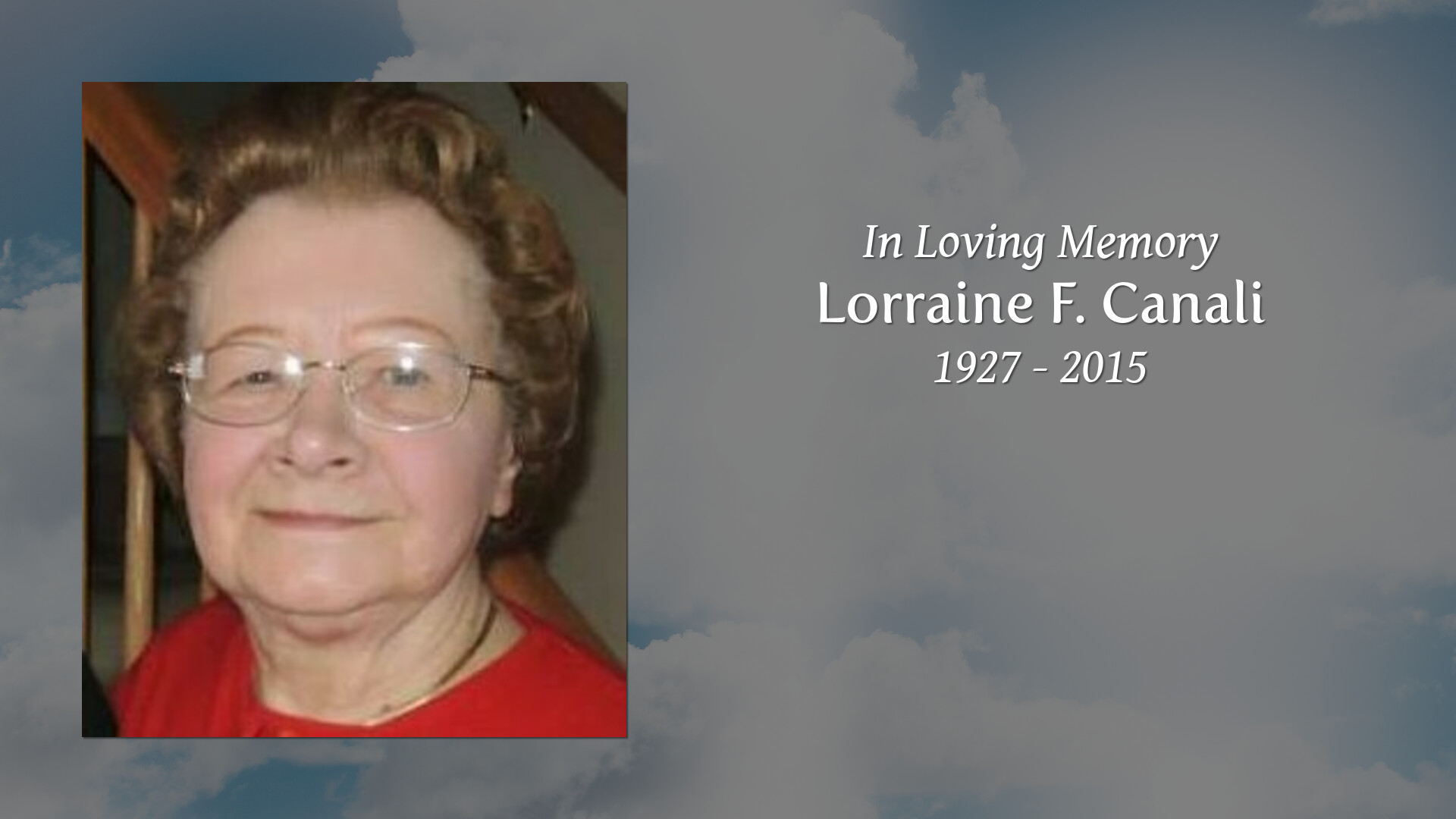 Obituary of Lorraine F. Canali | Redmon Funeral Home located in Sto.
