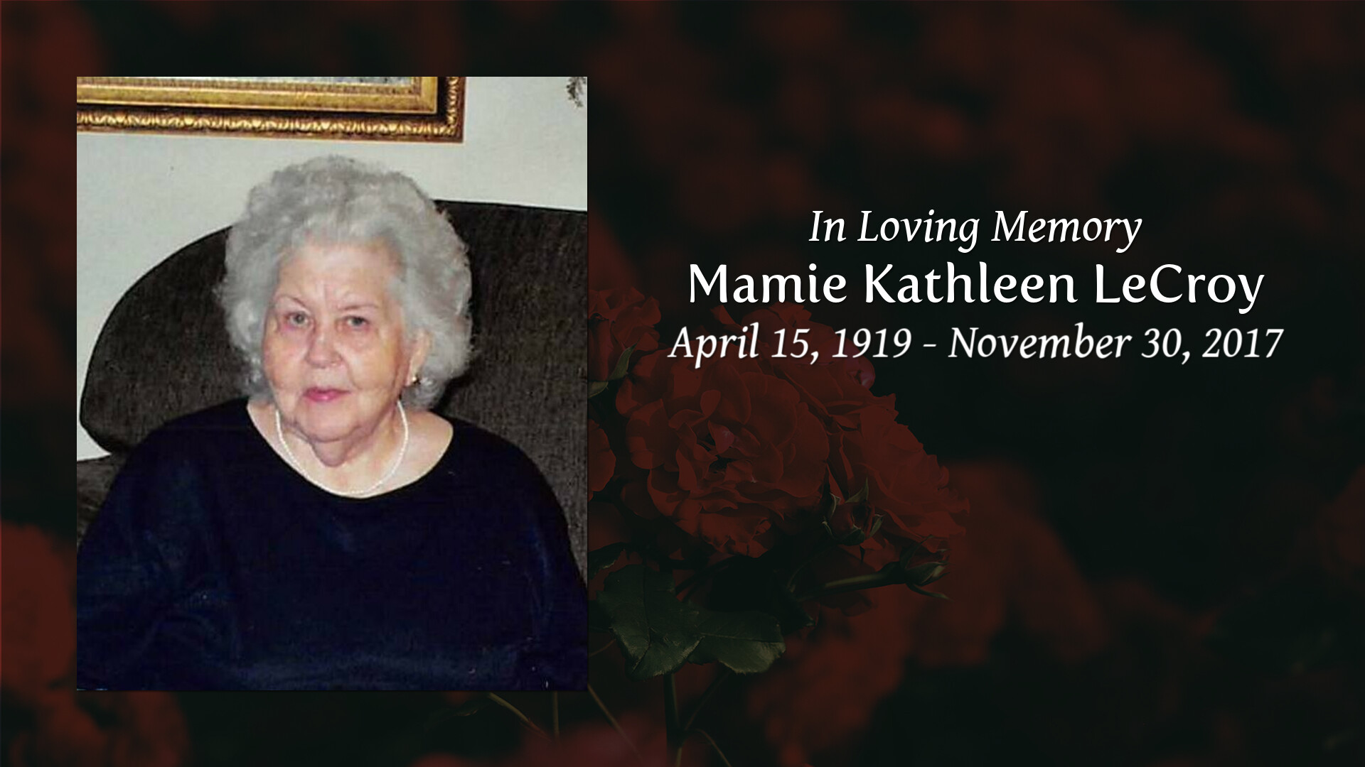 Obituary of Mamie Kathleen Lecroy   Welcome to Layne Funeral