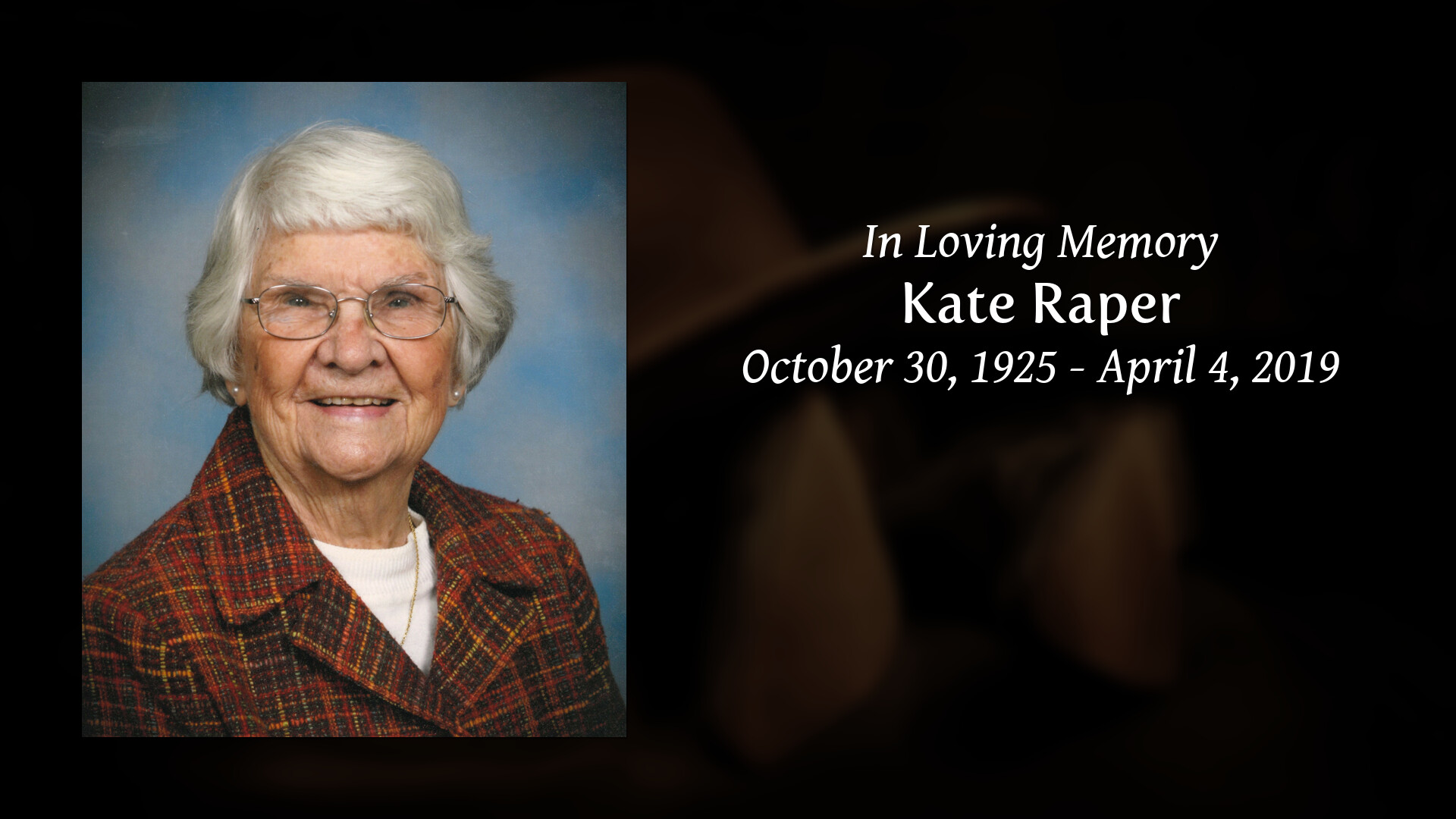 Tribute for Kate L. (Smith) Raper | Heritage Funeral Home and Cremation Services