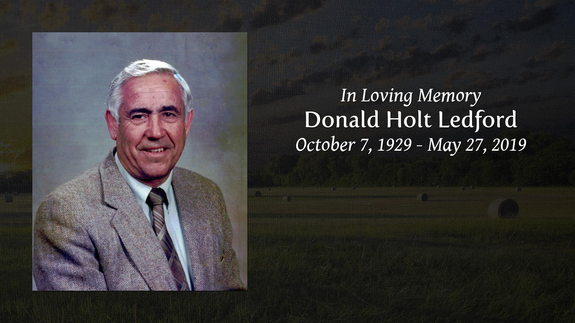 Don Ledford Athens Tn >> In Memory Of Donald Holt Ledford Ralph Buckner Funeral Home