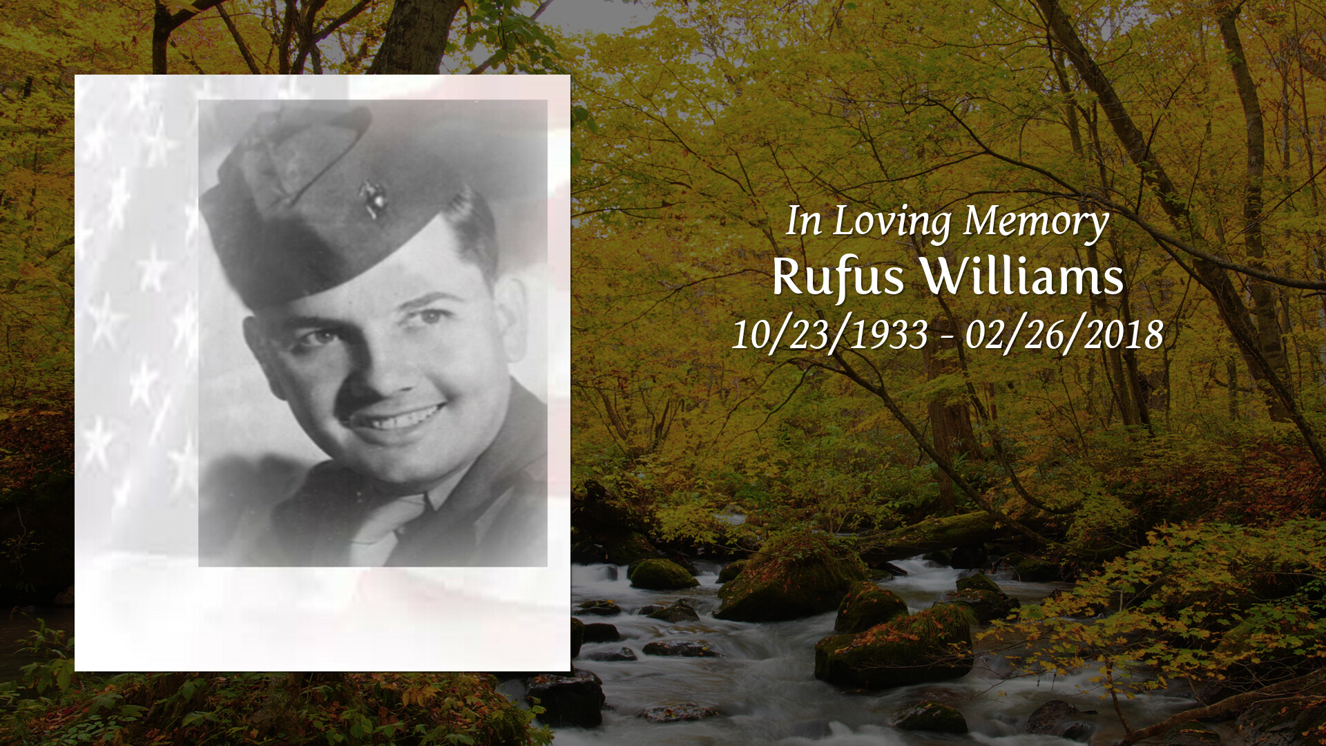 Obituary | Rufus Williams | Bianchi Funeral Homes Evarts