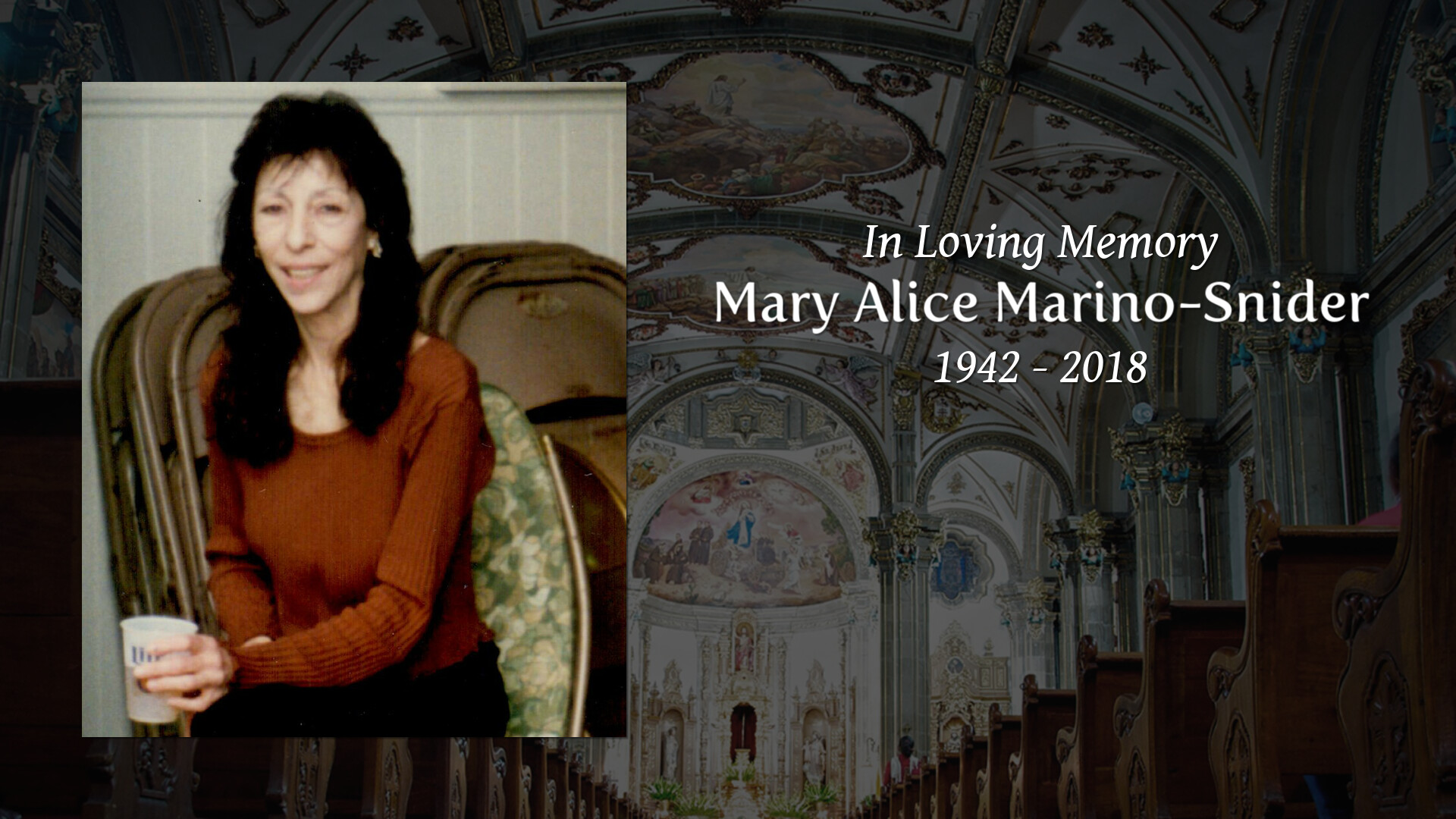 Obituary for Mary Alice Marino-Snider | Lumberton Family