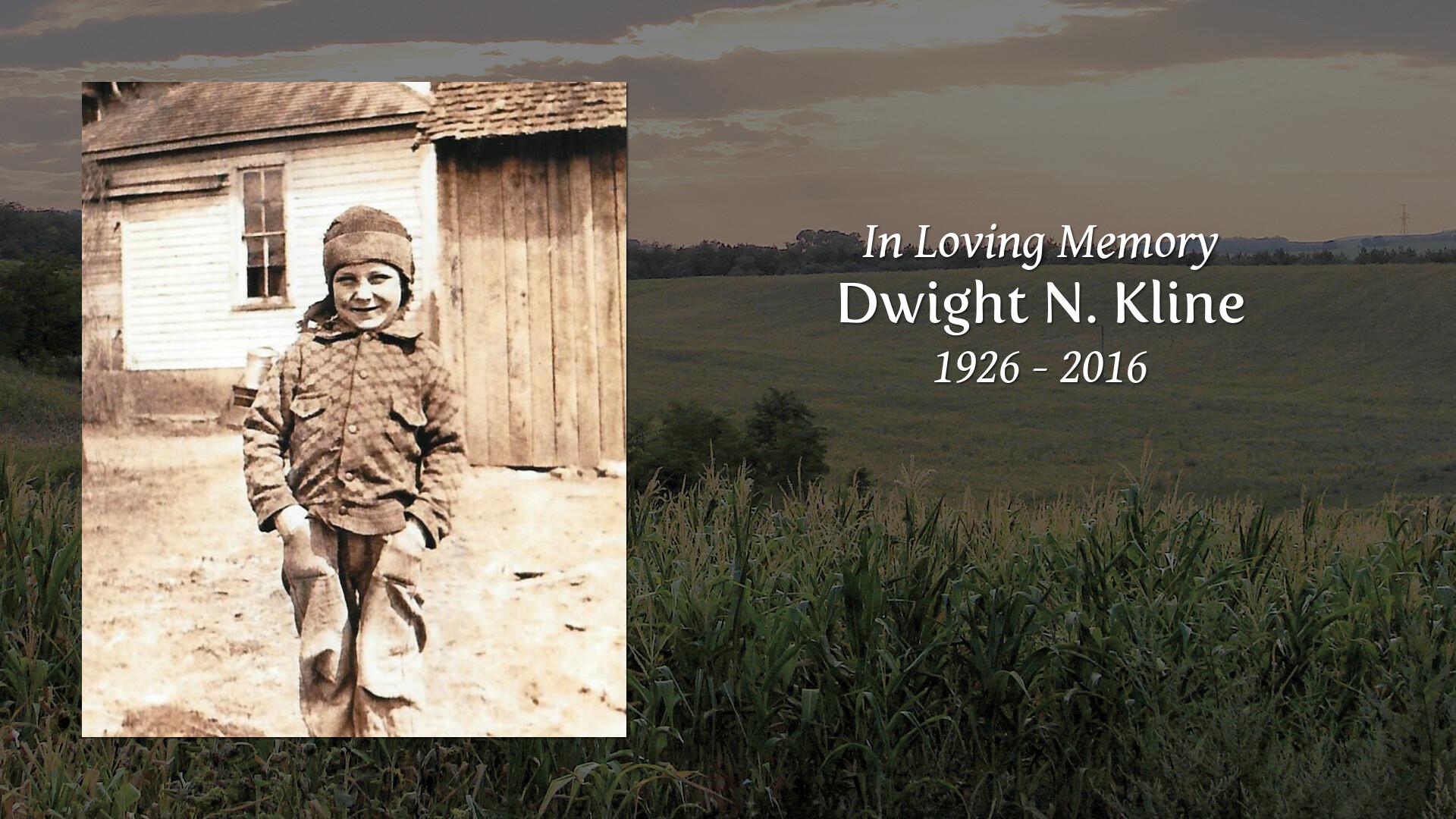 Obituary for Dwight N  Kline