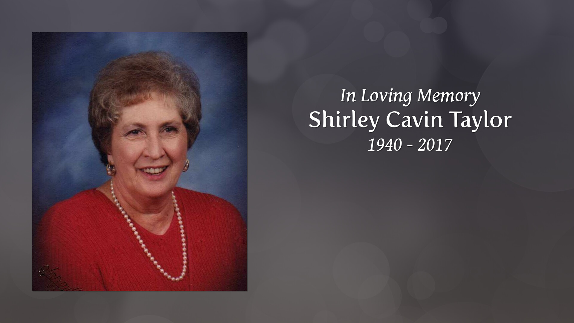 Obituary for Shirley Taylor | Swain Funeral Home, Baxley, GA