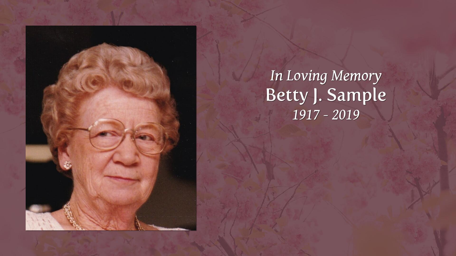 Obituary for Betty J  Sample | Esterdahl Mortuary and