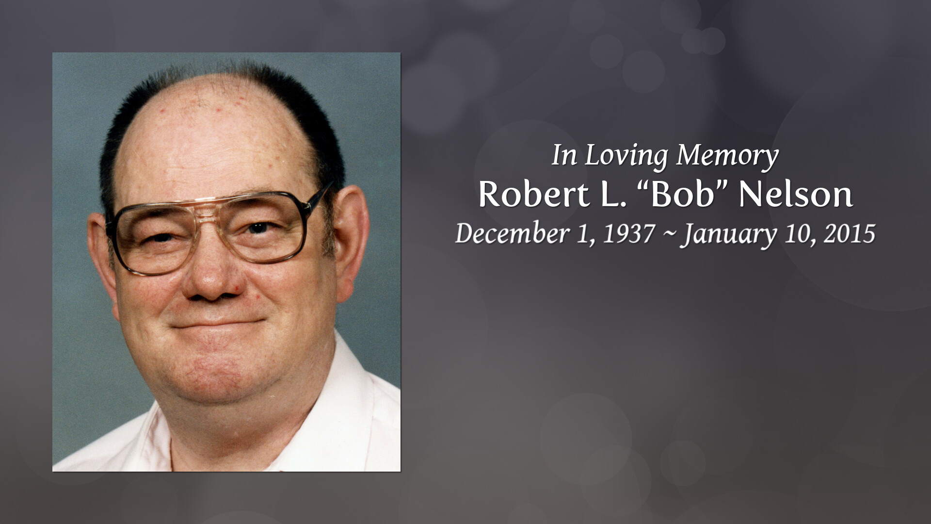 Obituary of Robert L  Nelson | Needham Storey Wampner Funeral Home
