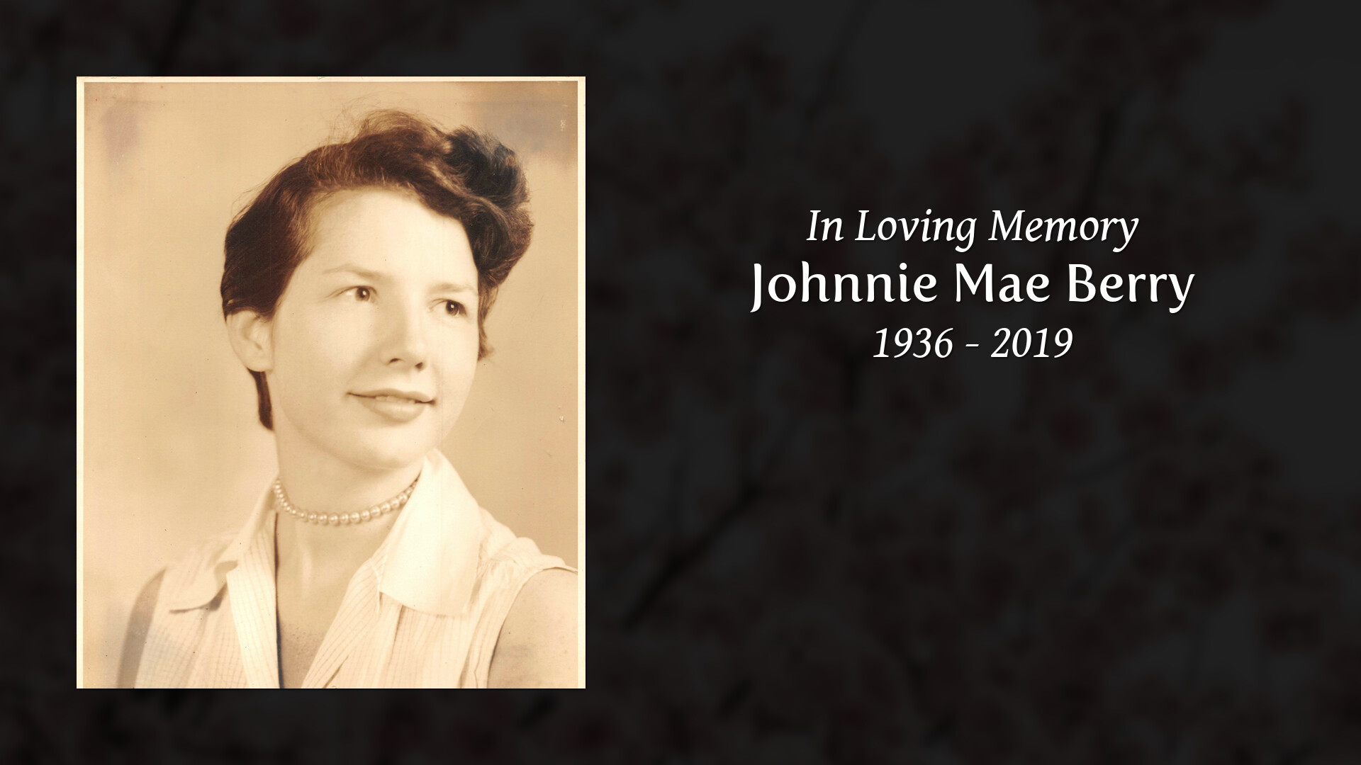 Obituary for Johnnie Mae Berry | Integrity Funeral Service