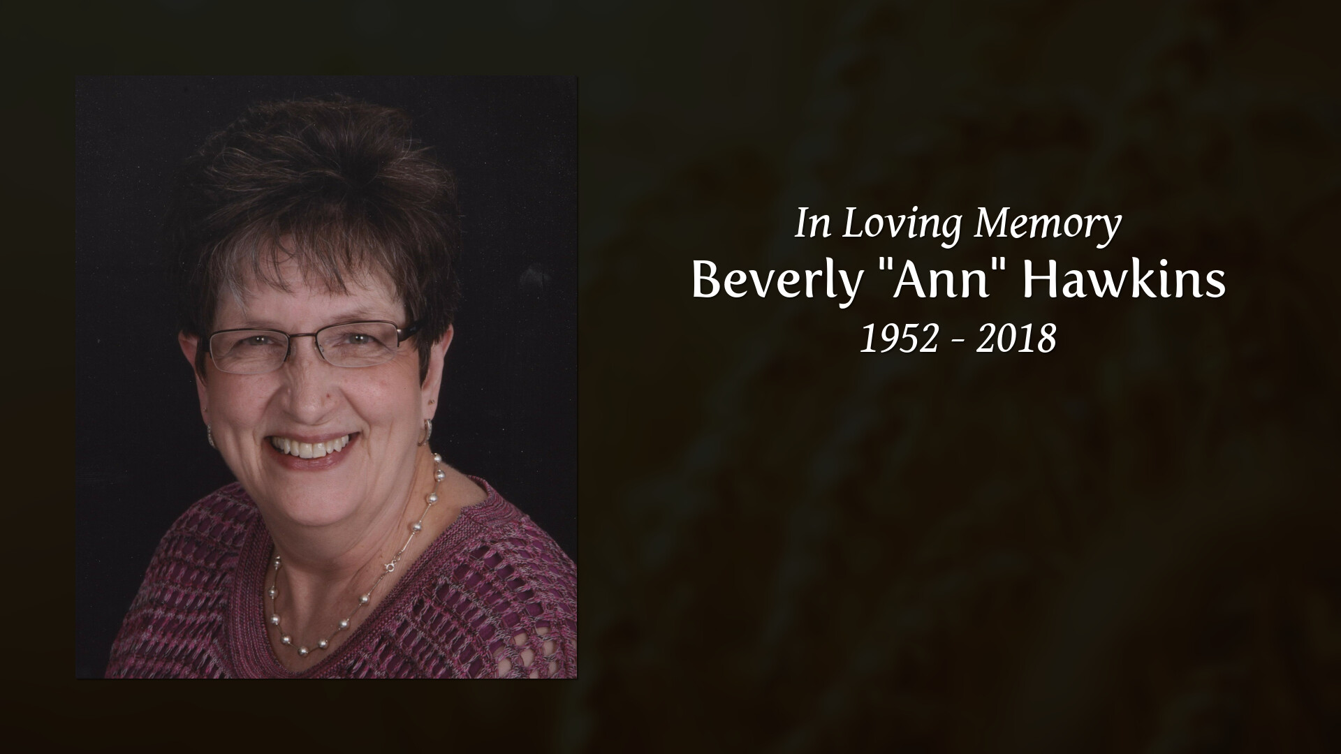 Beverly Hawkins Obituary, Pearcy, AR