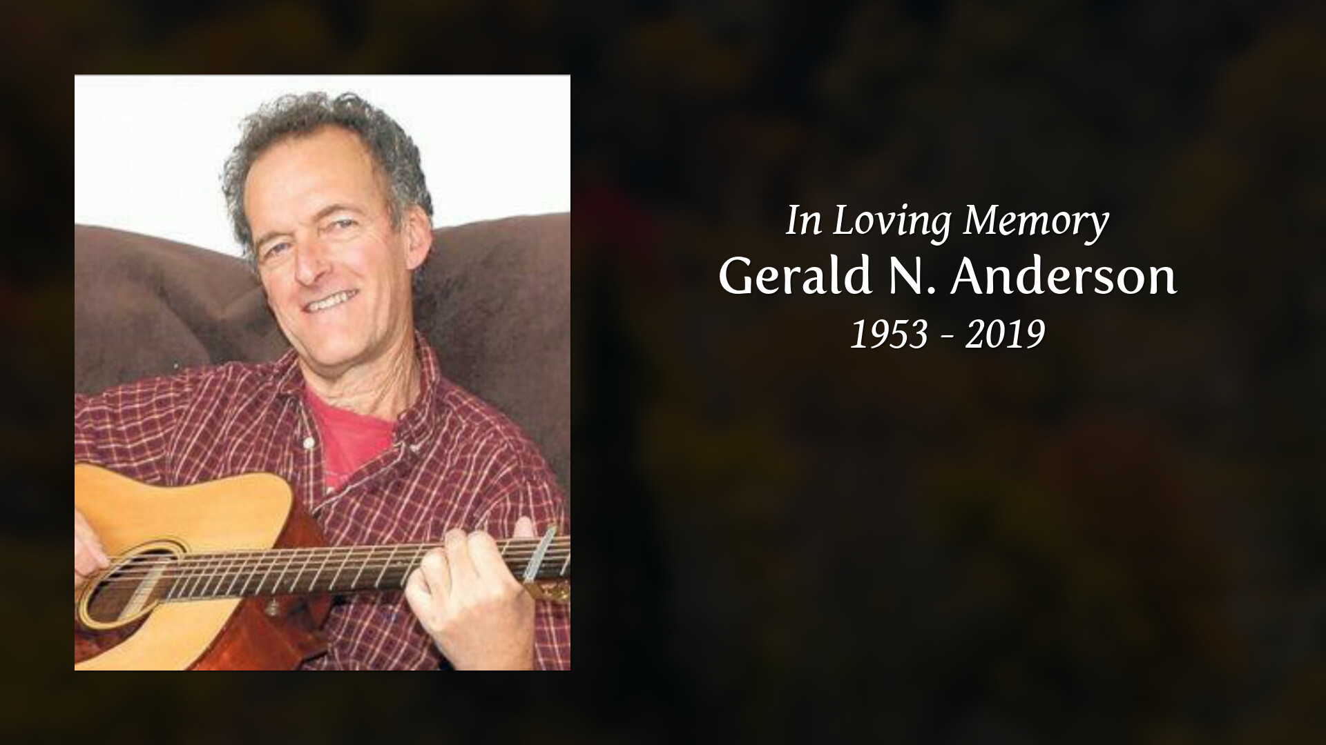 Obituary of Gerald N  Anderson | Welcome to Seaver-Brown Funeral Ho