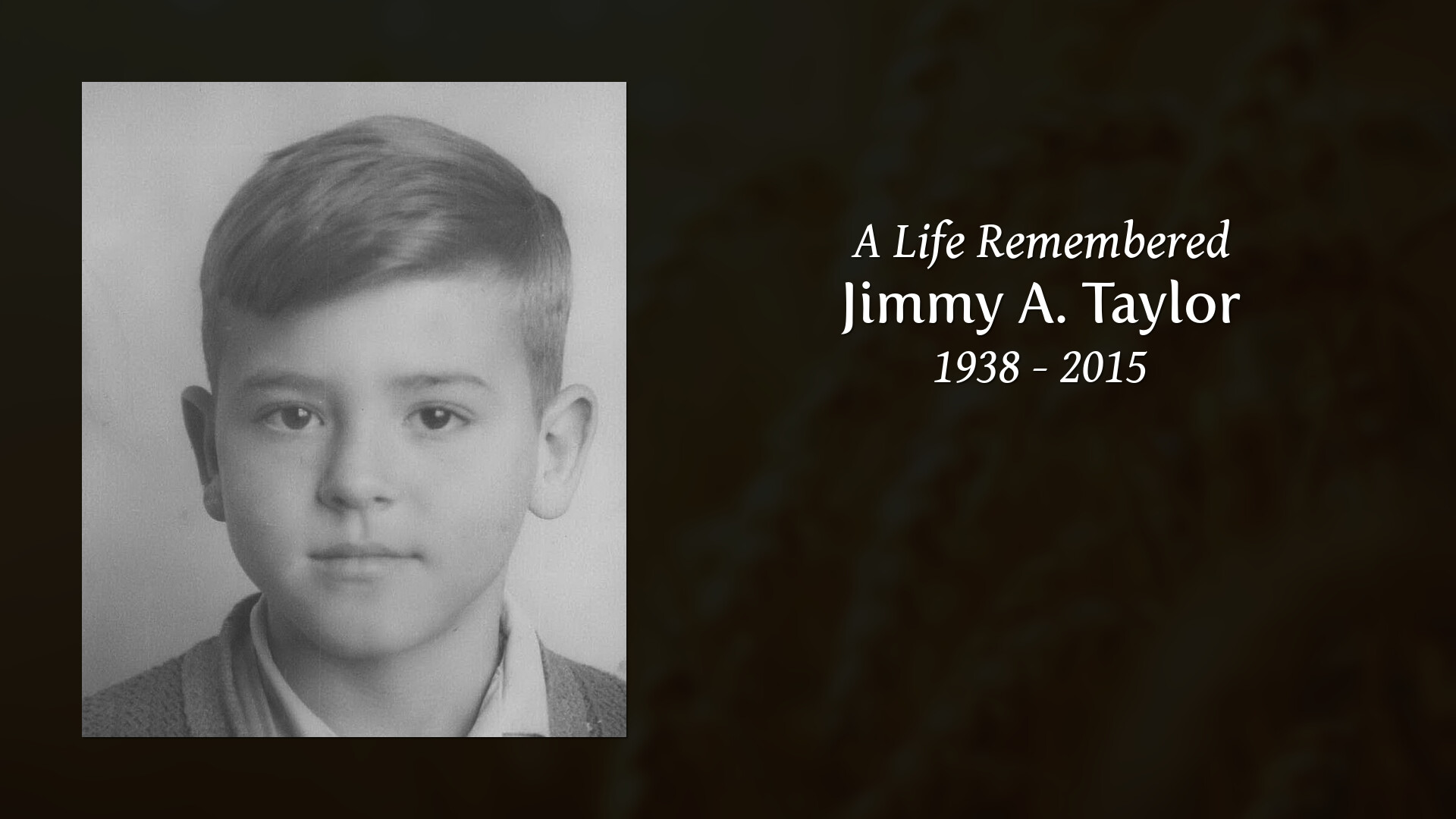 Jimmy Taylor - Lake Shore Funeral Home & Cremation Services