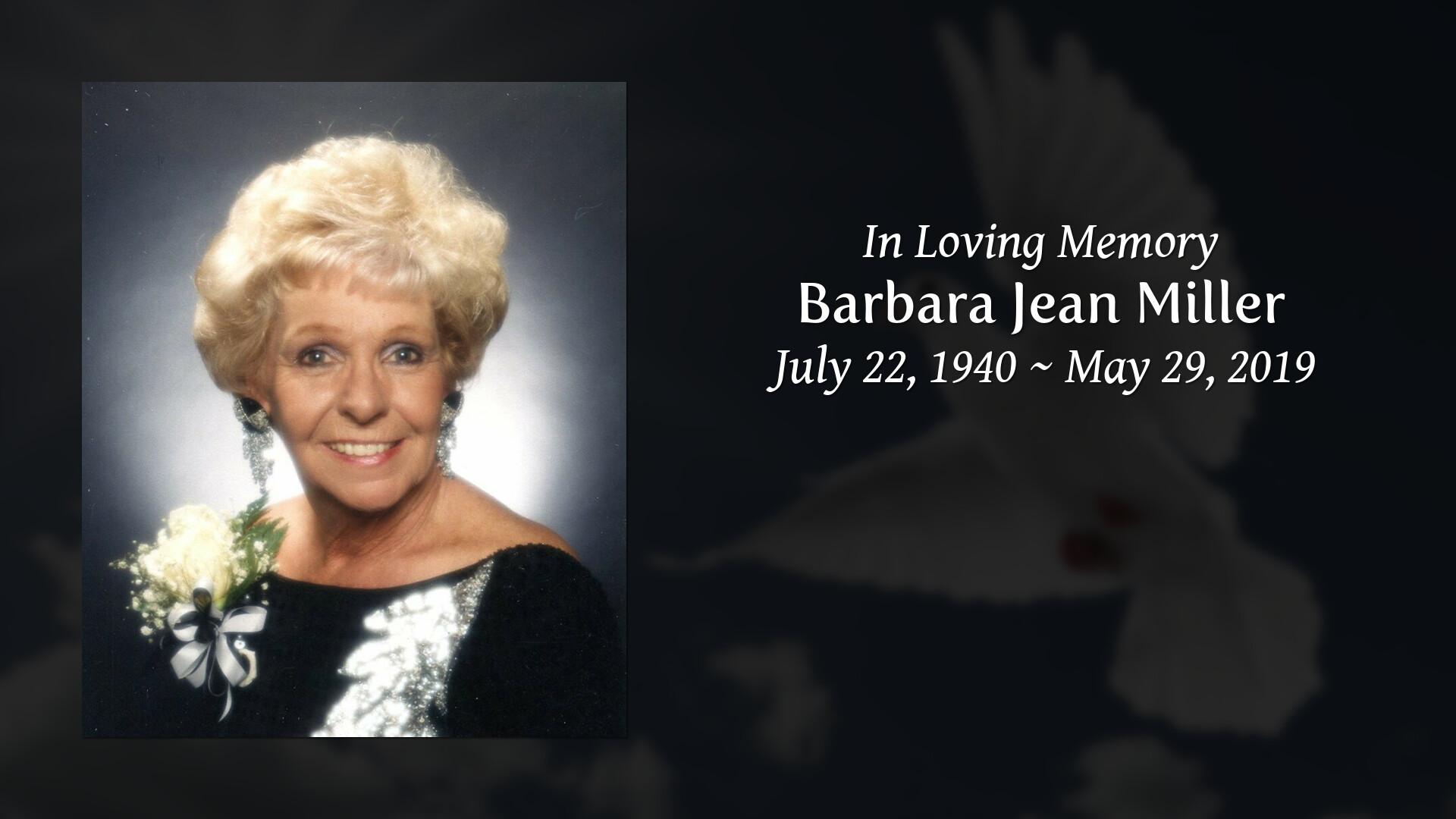 Obituary | Barbara Jean Miller | Marietta & Collins Funeral