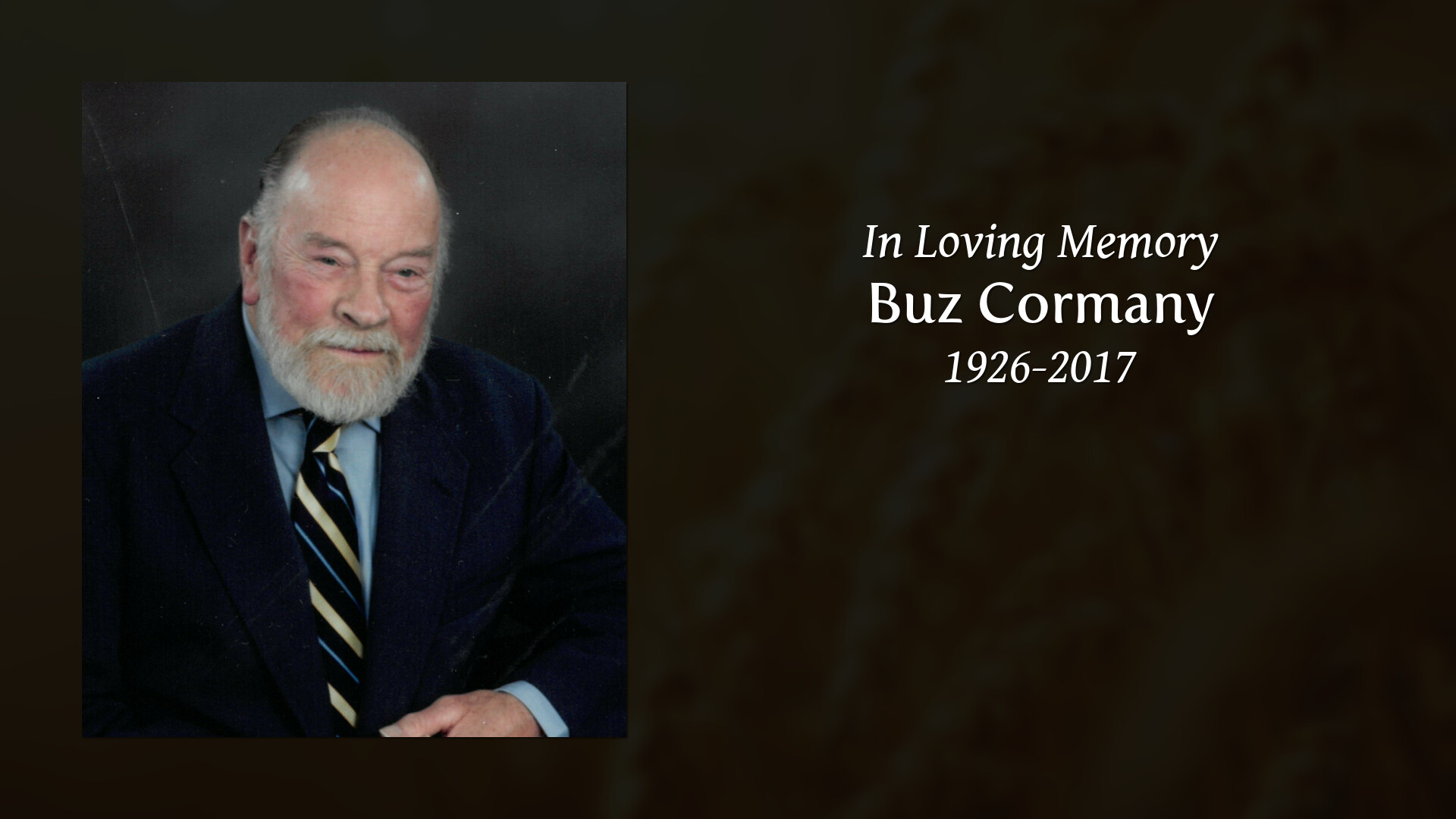 Obituary | Charles Buz Cormany | Waite & Son Funeral Homes